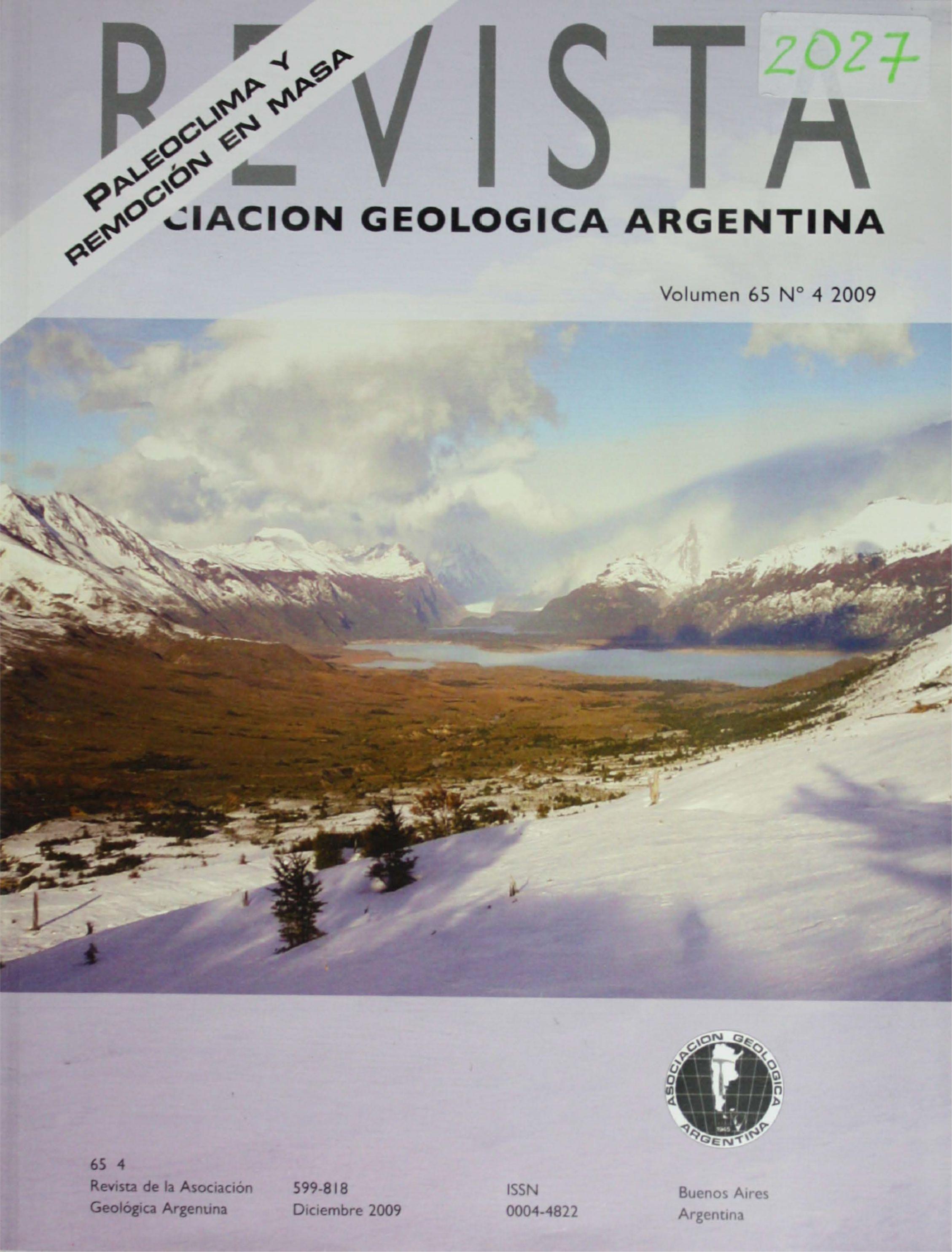Artesa labrada por difluencia del glaciar Brazo Sur, lago Argentino, Santa Cruz. Fotografía Juan Pablo Lovecchio