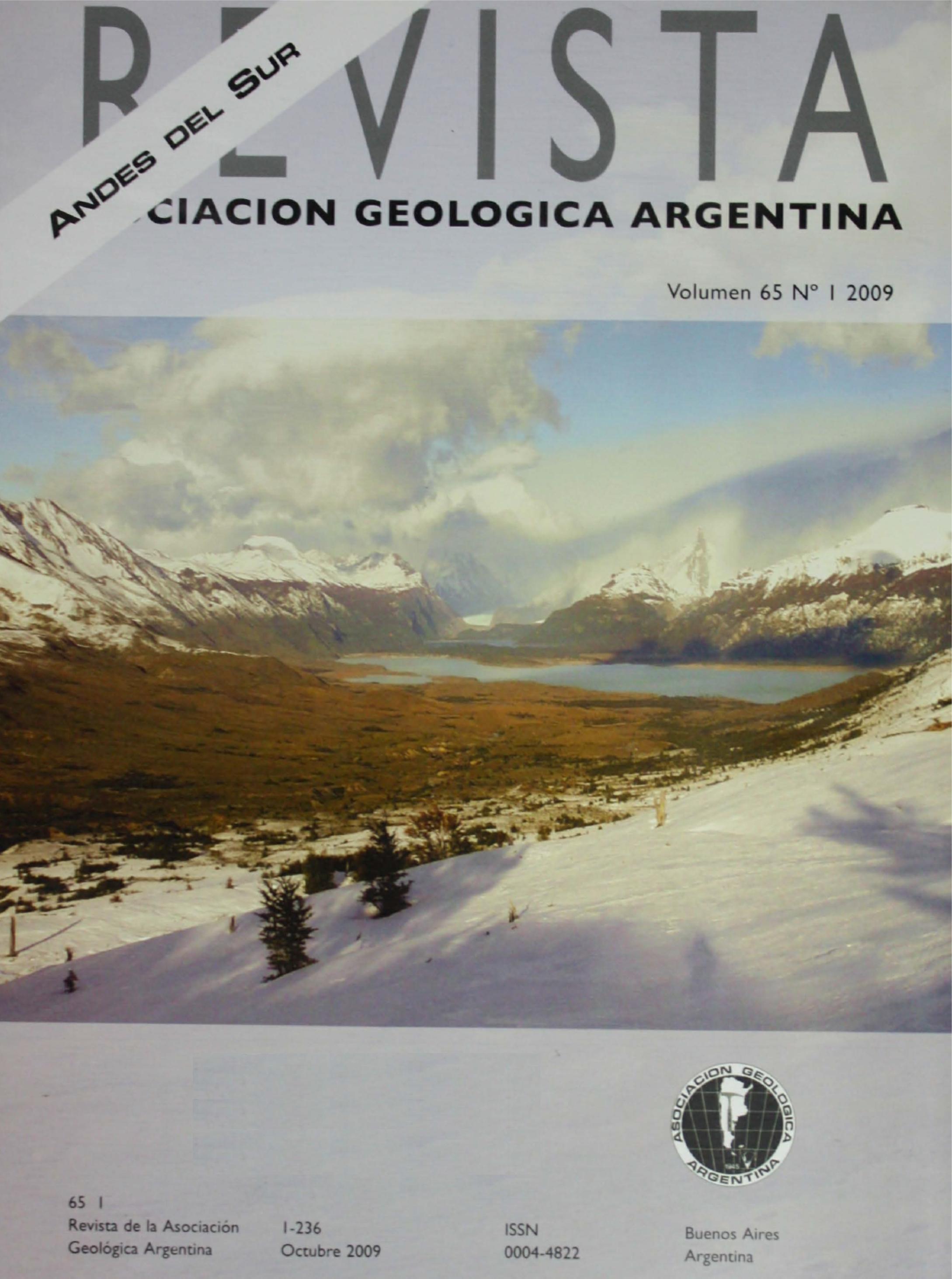 Ver Vol. 65 Núm. 1 (2009): Geología de los Andes del Sur