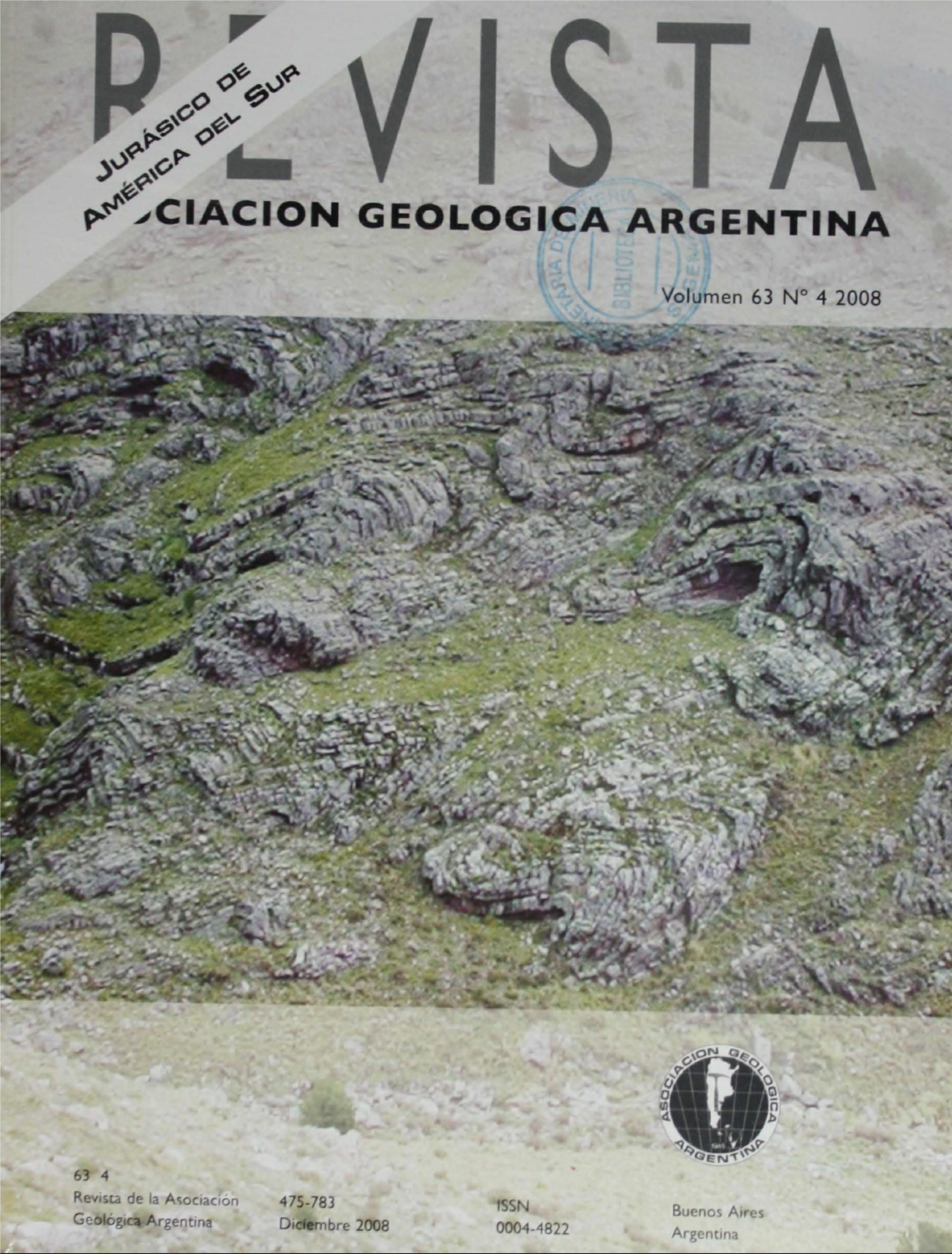 Ver Vol. 63 Núm. 4 (2008): Jurásico de América del Sur