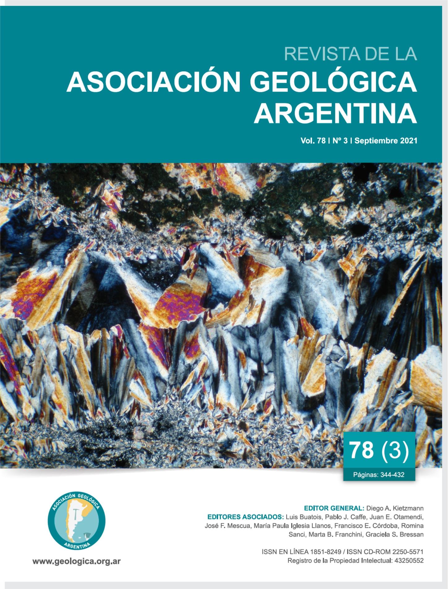 Ver Vol. 78 Núm. 3 (2021): Geología, mineralogía y petrogénesis de pegmatitas y depósitos hidrotermales de Sierras Pampeanas – Celebrando la carrera de Hebe D. Gay